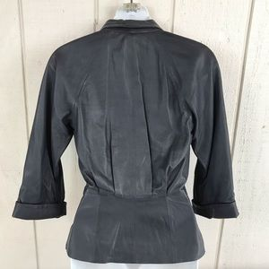French Connection Jackets & Coats - French Connection grey leather blazer size 0 NWT